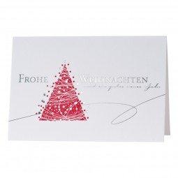 Weihnachts- und Neujahrskarte in sanften, warmen Farbtönen inkl. Umschläge