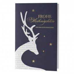 Weihnachtskarte mit elegantem Rentier mit Design inkl. Umschläge