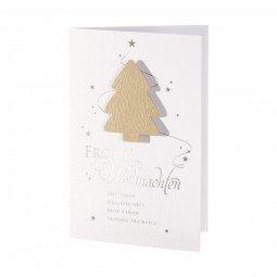 Weihnachtskarte mit stilisierter Tanne inkl. Umschläge